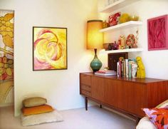 The Vintage Mid Century Modern Bedroom Furniture pics that we give bellow, was a astounding and also productive design. Mid Century Modern Living Room, Mid Century Modern Decor, Mid Century Design, Style At Home, Style Blog, 60s Style, Scandinavian Style, Casa Retro, Retro Bedrooms