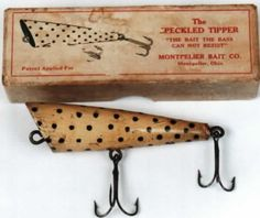 vintage fishing lure  (the speckled tipper)