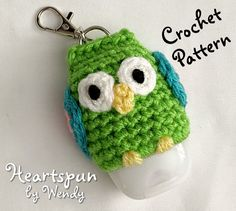 Quick Crochet Patterns, Knitting Patterns, Knitting Ideas, Crochet Keychain Pattern, Pouch Pattern, Double Crochet, Single Crochet, Crochet Home, Free Crochet