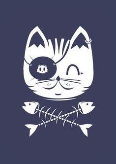 Pirate cat logo