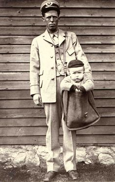 1913 - After parcel post service was introduced in at least two children were sent by the service. With stamps attached to their clothing, the children rode with railway and city carriers to their destination. The Postmaster General quickly issued a