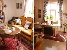 tuulinenpaiva.fi Living room before and after the makeover