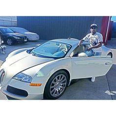 Floyd Mayweather and his gorge white #Bugatti Veyron #TMT aka The Money Team