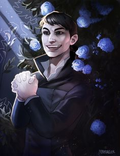 """cccrystalclear:  """" Finally finished the painting of The outsider as a celebration of Dishonored 2!  Can be found at redbubble  """""""
