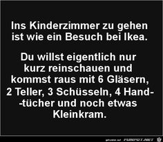 ins Kinderzimmer zu gehen ist..., Cute Text, Funny Note, Love My Kids, Funny As Hell, Happy Quotes, Happiness Quotes, Quotes Positive, Smile Quotes, Man Humor