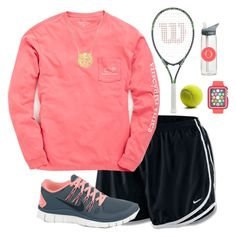 """Tennis practice"" by livnewell ❤ liked on Polyvore featuring NIKE, Vineyard Vines and CamelBak"