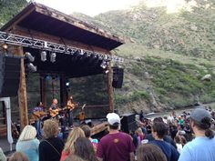 Bob, Jackie, Chris - Mishawaka Ampitheater, Colorado. Photo via Marc Peter