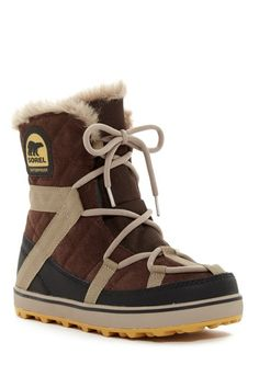 Image of Sorel Glacy Explorer Shortie Faux Fur Lined Boot