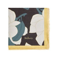 Shop the Allover Magnolia Square Scarf on Mulberry.com.  This luxurious scarf can be draped, wrapped and tied easily thanks to its silky finish. Featuring a bold magnolia flower motif inspired by the English countryside.