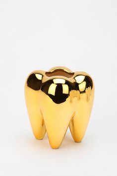 Tooth Toothbrush Holder, at UO. The Sims, Urban Outfitters, Gold Everything, Or Noir, Golden Life, Gold Teeth, Gold Aesthetic, Stay Gold, Gold Art