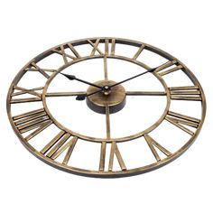 Large Modern Wall Clock - Finvis Gold | The Fancy Place Led Wall Lamp, Wall Sconces, Living Room Modern, Modern Wall, Oversized Clocks, Sconce Lighting, Decoration, Sober, Pile Aa