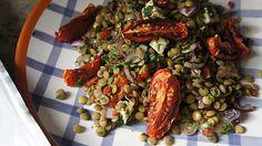 Receita de Salada de Lentilha com Tomate Assado