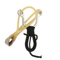 Wish | Stainles Steel Powerful Wrist Brace Shot Slingshot Catapult Outdoor Hunting (Color: Black)