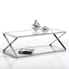 table basse verre la redoute
