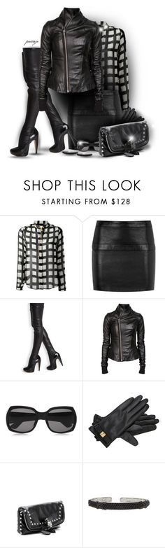"""""""Hello Darkness"""" by rockreborn ❤ liked on Polyvore featuring MICHAEL Michael Kors, Yves Saint Laurent, Roland Mouret, Rick Owens, The Row, Kate Spade, Alexander McQueen and JudeFrances"""