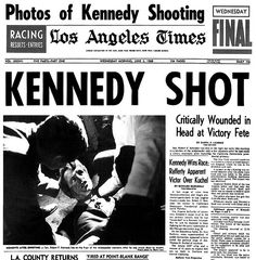 Robert Kennedy Assassination 1968 Everyone remembers were they were when they heard - I was sitting on the floor in the sitting room and hearing it on the telly - I cried but prop didnt understand the complications CW John Kennedy, Ethel Kennedy, Today In History, Us History, History Facts, American History, History Articles, Journaling, History