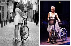 Los Martínez Banco de bicis: Alquiler de bicicletas especiales para ocasiones especiales. Foto B/N Edgar Zapana Suxo con la BH años 60 de Los Martínez.
