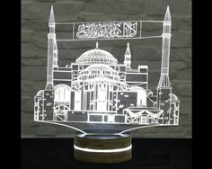 Mosque Shape, Ramadan Lights, 3D LED Lamp, Ramadan Decor, Amazing Effect, Calming Light, Plexiglass Lamp, Decorative Lamp, Acrylic Lamp by ArtisticLamps