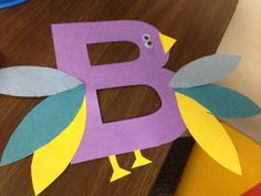 Letter B bird - Adorable! Letter B Activities, Preschool Letters, Preschool Kindergarten, Preschool Learning, Preschool Crafts, English Activities, Classroom Activities, Classroom Decor, Abc Crafts