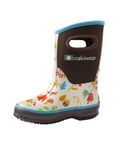 3da302e7e Children's Neoprene Rain/Snow Boots, Forest Animals Botas Muck, Botas De  Neve,