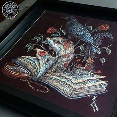 Open Letter, Dark Art, Insta Art, Original Artwork, Lettering, Ink, Art Prints, Frame, Illustration