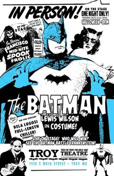 cryptofwrestling:  Halloween with The Batman (Lewis Wilson)(1944) [The Batman vs. Frankenstein!]