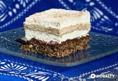 Habos diós-kávés szelet | NOSALTY Hungarian Cake, Hungarian Recipes, Poppy Cake, Vanilla Cake, Nutella, Tiramisu, Goodies, Food And Drink, Ethnic Recipes