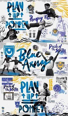 Fratton park pfc murals in Illustration