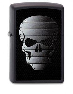 """Heavy Metal"""" in Skull by Zippo Germany"""