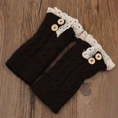 Hot Sale Delicate Knitted Lace Trim Boot Cuffs Toppers Leg Warmers Socks Nice Quality For Woman