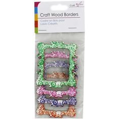 Wooden Craft Frames - Pack Of 4 | Card Making & Craft Embellishments at The Works