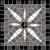 Mosaic Corner/Tile No 7 stencils, stensils and stencles Mosaic Crafts, Mosaic Projects, Mosaic Art, Mosaic Ideas, Mosaic Designs, Stencil Designs, Mosaic Patterns, Stone Mosaic, Mosaic Glass