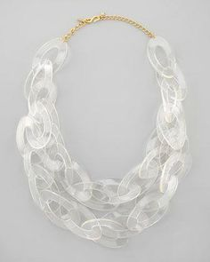 20fbb1c9991 clear lucite chain link necklace // Kenneth Jay Lane #necklace #lucite  #collarnecklace