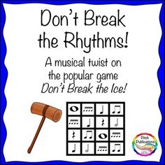 Music Center: Don't Break the Rhythms! My kids will be fighting over who gets to play! Drum Lessons, Music Lessons, Rhythm Games, Music Games, Music Lesson Plans, Piano Teaching, Music Activities, Elementary Music, Music Classroom