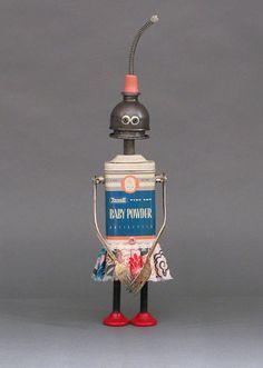 trouvailles + idée = robot Oveta par CASTOFCHARACTERS