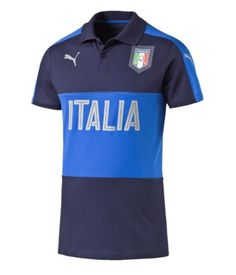 Italy Polo by Puma in Mens sizes at North America Sports the Soccer Shop and NorthAmericaSports.com Equipement Football, T Shirt, Polo Shirt, Soccer Shop, Polo Ralph Lauren, North America, Mens Tops, Jackets, Shopping
