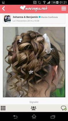 Coiffure enfant mariage communion en 2019 Chignon hair