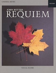 """John Rutter's """"Requiem"""" is a well-loved and widely performed choral work; the vocal score has texts in Latin and English from the Missa pro Defunctis, the Book of Common Prayer, and the Psalms. The seven sections form an arch-like meditation on the themes of life and death. Duration: 40 min. S solo, SATB chorus, orchestra/ensemble with organ. Copies: 339. Bookings: https://wv-yml.hostedbyfdi.net/webview/?infile=details.glu&loid=11595&rs=24163&hitno=3"""