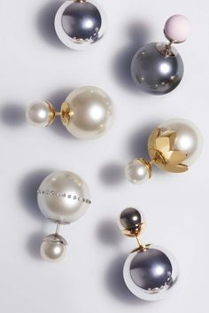Dior Earrings - Sparkly Gold