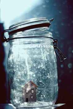 Small house in a jar