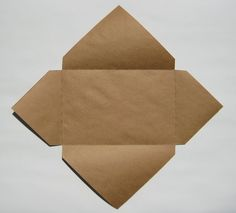"Easy Envelopes for Handmade Cards | TeachKidsArt. Center your card on the square.  An A5 card or letter from an 8 1/2"" x 11"" folded in half, needs a 12"" x 12"" square."