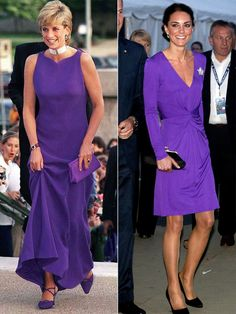 Celebrities In Ultra Violet, the Pantone Color of the Year 2018 - Princess Diana and Kate Middleton
