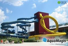 Aqua Magis is a huge aqua park consisting of a wide variety of waterslides. <br/><br/>These include the incredible Aqua loop, the amazing looping water slide with a falling trap door start! Trap Door, Water Slides, Aqua, Germany, The Incredibles, Activities, Park, Wanderlust, Amazing