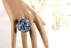 Real Hydrangea Petal Ring Real Flower Ring Big by JasmineThyme, $20.00