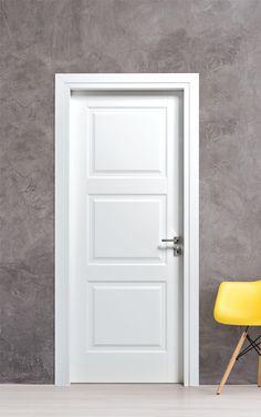 Εσωτερική πόρτα με λάκα & ταμπλάδες