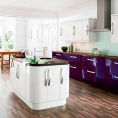 love the purple and white look and the style