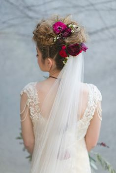 Fresh floral bridal updo