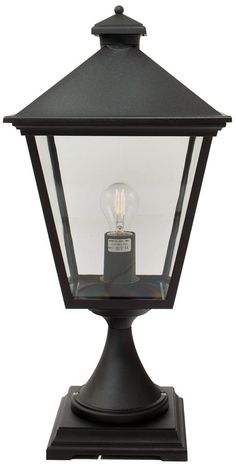 Norlys Turin Traditional Black Outdoor Post Top Lantern