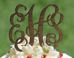 Custom wedding cake topper rustic cake by CorkCountryCottage
