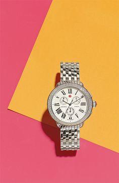 MICHELE 'Serein' Diamond Watch #Nordstrom #AugustCatalog